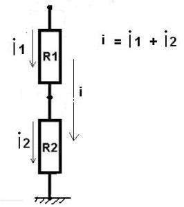 arus pada resistor diseri