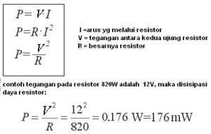 daya pada resistor