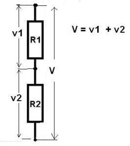 tegangan pd  resistor diseri