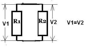 tegangan pada resistor paralel