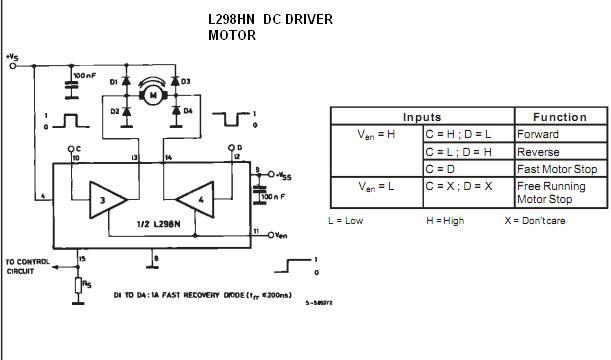 Driver motor dc menggunakan ic l298 dasar komputer buat for Dc motor driver ic
