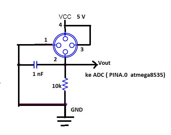 contoh penggunaan dasar sensor gas tgs2602 dgn