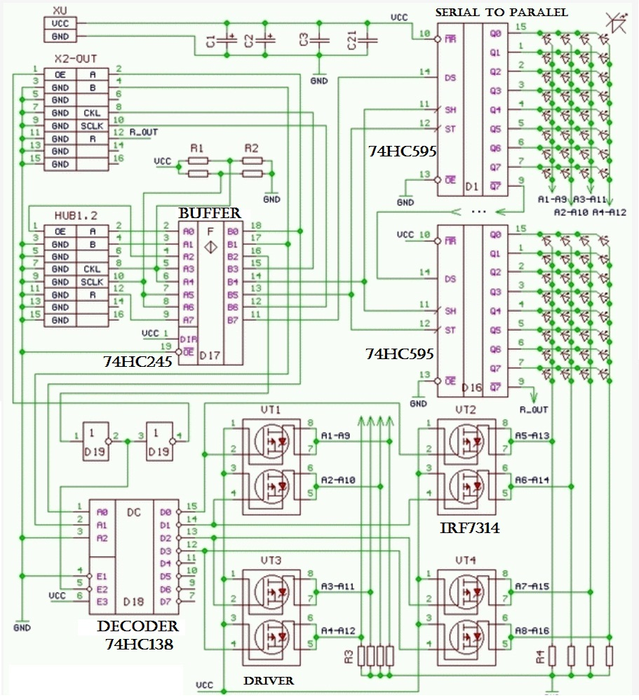 Pengetahuan Dasar Pemrograman Modul Led Dot Matrik Display Dmd P10