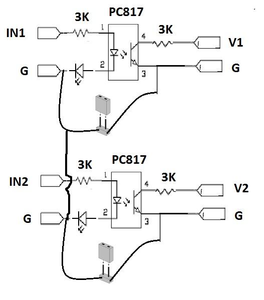 Pengetahuan Dasar Input optocoupler PC817 pada